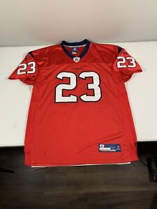 Men's Reebook Houston Texans Arian Foster Footbal Jersey Sewn Size 52 Red