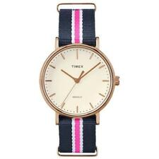 Timex TW2P91500 Fairfield Weekender Striped Fabric Watch Indiglo