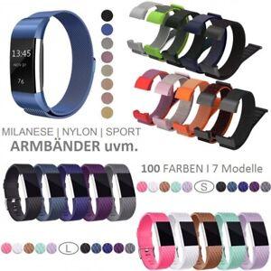 Fitbit Charge 2 3 4 Armband Edelstahl Ersatzband Nylon Milanese Sport LederWatch