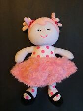 BABY STARTERS Pink White Doll-Polka Dot-Baby-Lovey Security  Sugar & Spice-plush