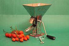 Passapomodoro manuale  in acciaio inox 18/10 da tavolo con gancio