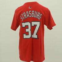 Washington Nationals MLB Majestic Kids Youth Size Stephen Strasburg T-Shirt New