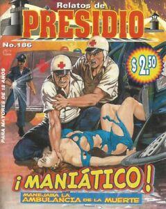 RELATOS DE PRESIDIO MEXICAN COMIC #186 MEXICO SPANISH HISTORIETA 1998 CRIME