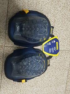 Irwin STABILSER KNEE PADS TR22378 1Pair I-Gel & Foam Padding, Flat Tread Design