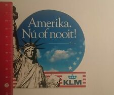 Aufkleber/Sticker: KLM Amerika nú of nooit (29121695)
