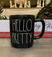 Rae Dunn By Magenta - LL HELLO PRETTY - BLACK Ceramic Coffee Mug
