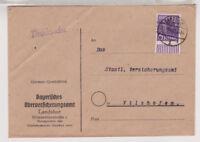 Bizone/Band-Netzaufdruck, Mi. 37I, EF, Landshut, 15.4.48
