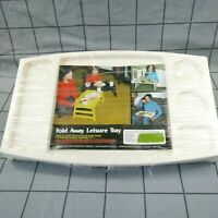 Vintage Foldaway Dinner Lap Tray Retro Camping Leisure Picnic Tray with Handles
