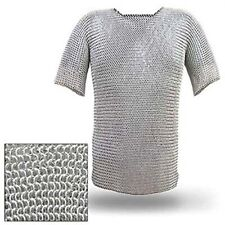 Halloween Costumes Cosplay Men Props Party Dress Fancy Aluminium Chainmail Shirt