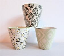 Mini Planters / Pots ~ Set of Three ~ Sass and Belle ~ Perfect for Cactus ~ Gift