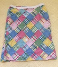Brooks Brothers Women's Size 6 Plaid Patchwork Casual Lined Skirt
