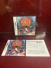 World Championship Poker Deluxe Series Nintendo DS EMPTY CASE W/MANUAL. NO GAME!