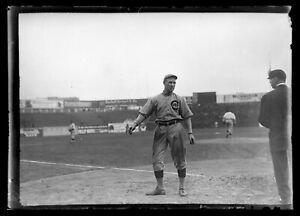 Early 1910s Frank Chance Cubs Baseball Original Glass Plate Negative