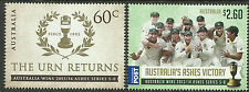 AUSTRALIA 2014 ASHES VICTORY THE URN RETURNS SERIES 5-0 Set of 2 values MUH