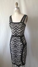 WHITE TIGER STRETCH SEXY DRESS. SHOW STOPPER. Size M.