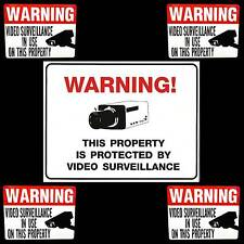 LOT OF WATERPROOF VIDEO SECURITY SPY CAMERAS IN USE WARNING SIGN+WINDOW STICKERS