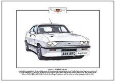 FORD CAPRI 2.8 Tickford 1983-86 Lámina Artística - turboalimentado 205bhp &