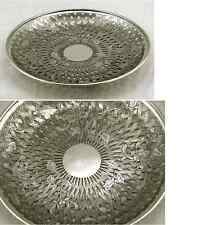 CHINESE EXPORT SILVER BASKET WEAVE CHRYSANTHEMUM BOWL C. 1880 - PIERCED WORK