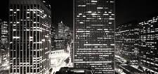 "XL LARGE SKYLINE CITY SCENE CANVAS PICTURE ART 44""x20"""