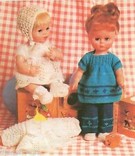 "Doll Clothing Knitting Pattern For The  12""- 14"" Dolls 2 Different Outfits"
