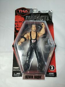 TNA Wrestling Deluxe Impact! Kevin Nash Series 3 Poseable Action Figure pkg dmg