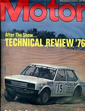 Motor Magazine November 6 1976 Technical Review '76 VGEX 121915jhe