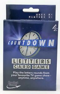Channel 4 TV Countdown Letters Letter Vowel and Consonant Card Game Toy ENGLISH