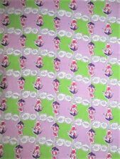 VTG 34X42 LAVENDER GREEN TINY RED ROSE BUD COTTON FEEDSACK FABRIC QUILT CRAFT