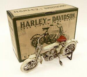HARLEY-DAVIDSON Ltd Ed Cast Iron Replica 1909 V-Twin Iron Model Motorcycle w Box
