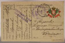POSTA MILITARE 10 TIMBRO SEZIONE PANETTIERI CON FORNI WEISS 26.2.1918 #XP334C