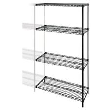 """Lorell Industrial Adjustable Wire Shelving Add-on-unit - 36"""" X 24"""" X 72"""" - Steel"""