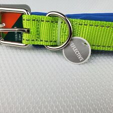 Vibrant Life Collar Dog Adjustable Reflective Padded Blue & Green Size L