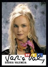 Saskia Valencia Autogrammkarte Original Signiert TOP## BC 414