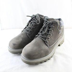 LUGZ Men's Low Heel Gray Flexastride Memory Foam Slip Resistant Work Boots 11 M