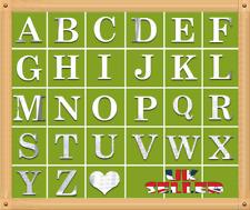 26 Alphabet Letters Mirror Wall Sticker Mirror Effect  Art Decor Acrylic Silver