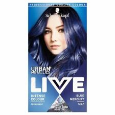 2x Schwarzkopf Live Colour Urban Metallics U67 Blue Mercury Hair Dye