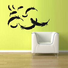 Wall Vinyl Sticker Bedroom Feather Fallen Set (Z1117)