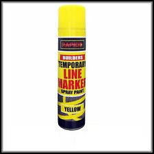 Yellow Temp Line Marking Spray 300m Fast Drying Paint Road Marker Construct