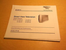 Sony Direct View Tv Aa2U Chassis Circuit Description and Troubleshooting Ctv-28