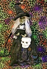 HALLOWEEN Witch holding  spell book,watch
