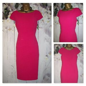LADIES MARKS AND SPENCER DRESS SIZE 14, Hot Pink Pencil Shift Occasion Dress
