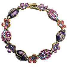 Kirks Folly Enchanted Ladybird Ladybug Clasp Bracelet Purple, Violet, & Lavender