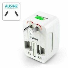 Power AC Adapter US AU UK Charger Travel Universal Port Converter EU Plug