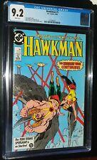 HAWKMAN #1 1986 D.C. DC Comics CGC 9.2 NM- White Pages
