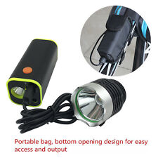 4x18650 Battery Pack Storage Case Box Holder USB For Bike Bicycle Light With Bag
