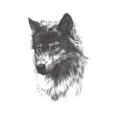 Waterproof Temporary Tattoo Stickers Wild Horror Black Grey Wolf