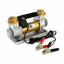 Dynamic Power 12V 200L/Min Portable Air Compressor - Gold
