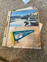 1950's 1960's Scrapbook Vacation Photos Ticonderoga, Gettysburg, DC SEE VIDEO