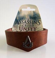 Assassin's Creed Unity Bracciale METALLO CON STEMMA CREST nuovo in pelle