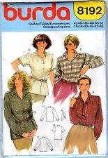 Burda Long & Short Sleeved BLOUSE Pattern Sz 16-18-20-40-42-44 New Free Shipping